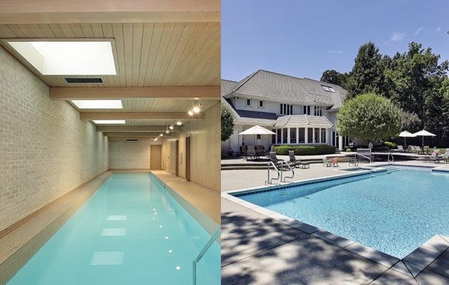 Binnenzwembad of buitenzwembad