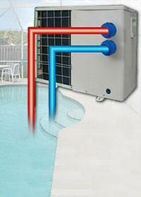 Zwembadverwarming met lucht warmtepomp