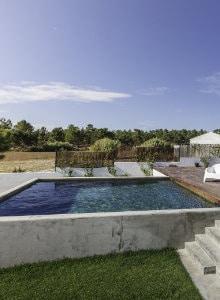 zwembad in beton mortex